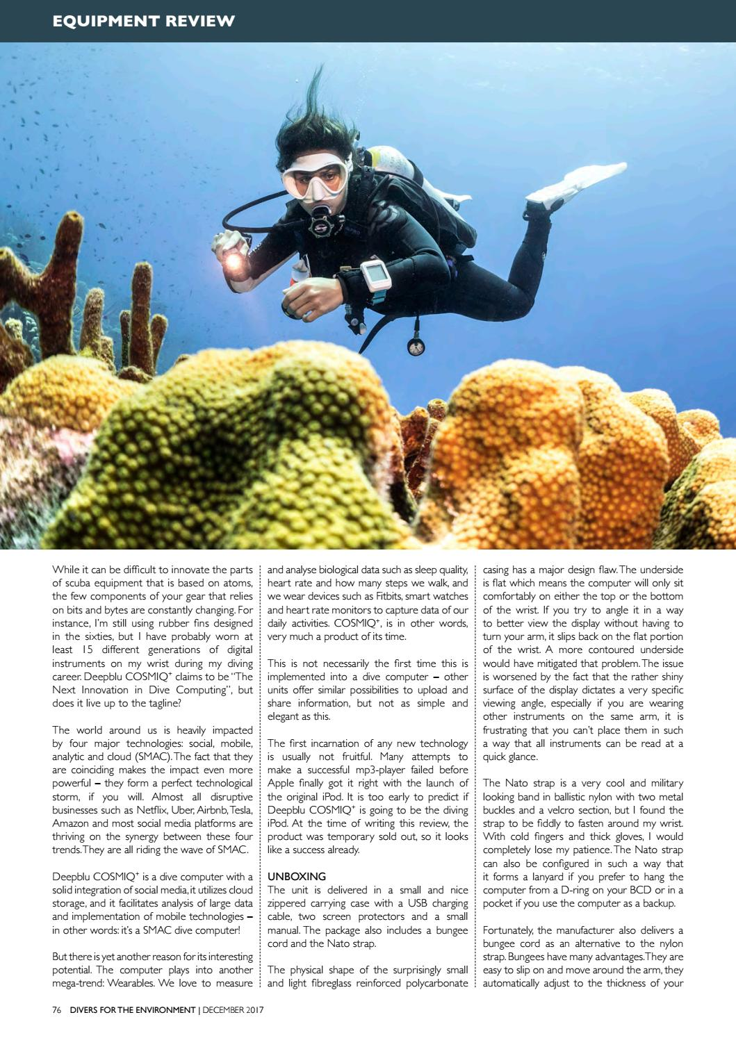 Divers for the Environment December 2017 by Divers for the
