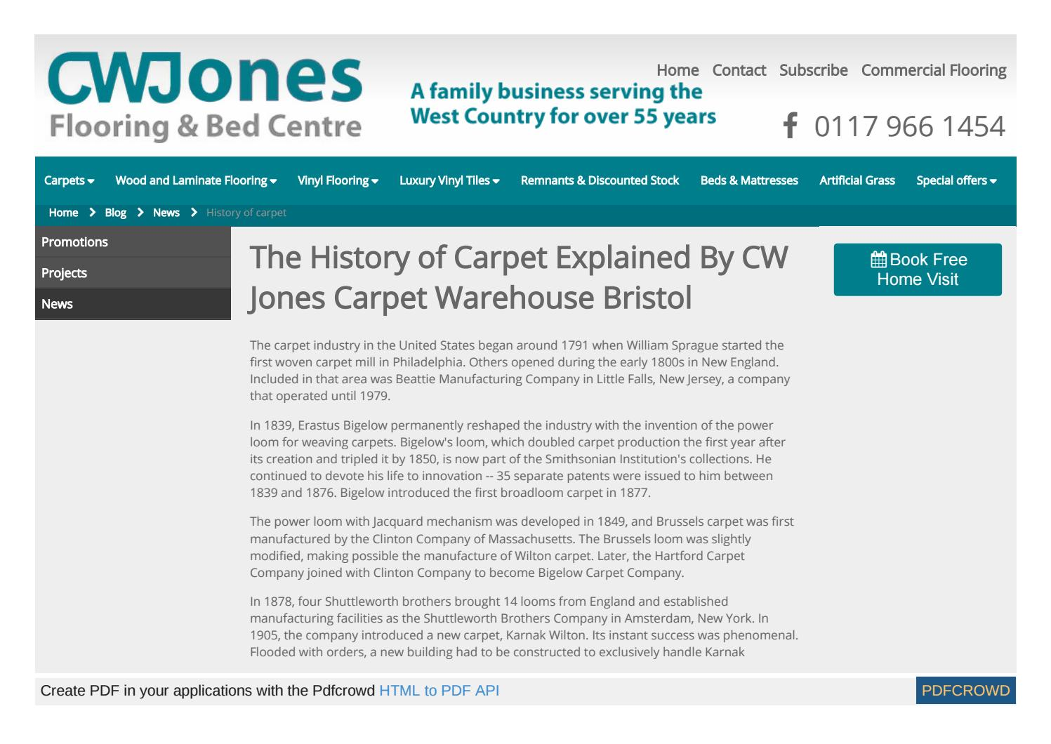 Www Cwjfloorings Co Uk Blog News History Of Carpet By