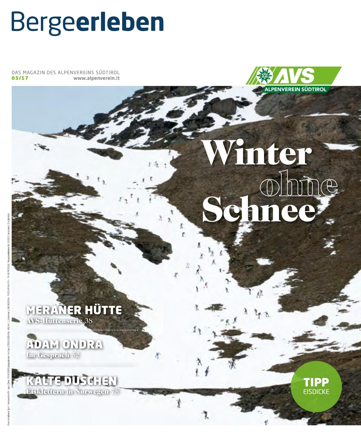 Bergeerleben Alpenverein Magazin By Avs 2017 Südtirol November Issuu 9DHI2eEYWb