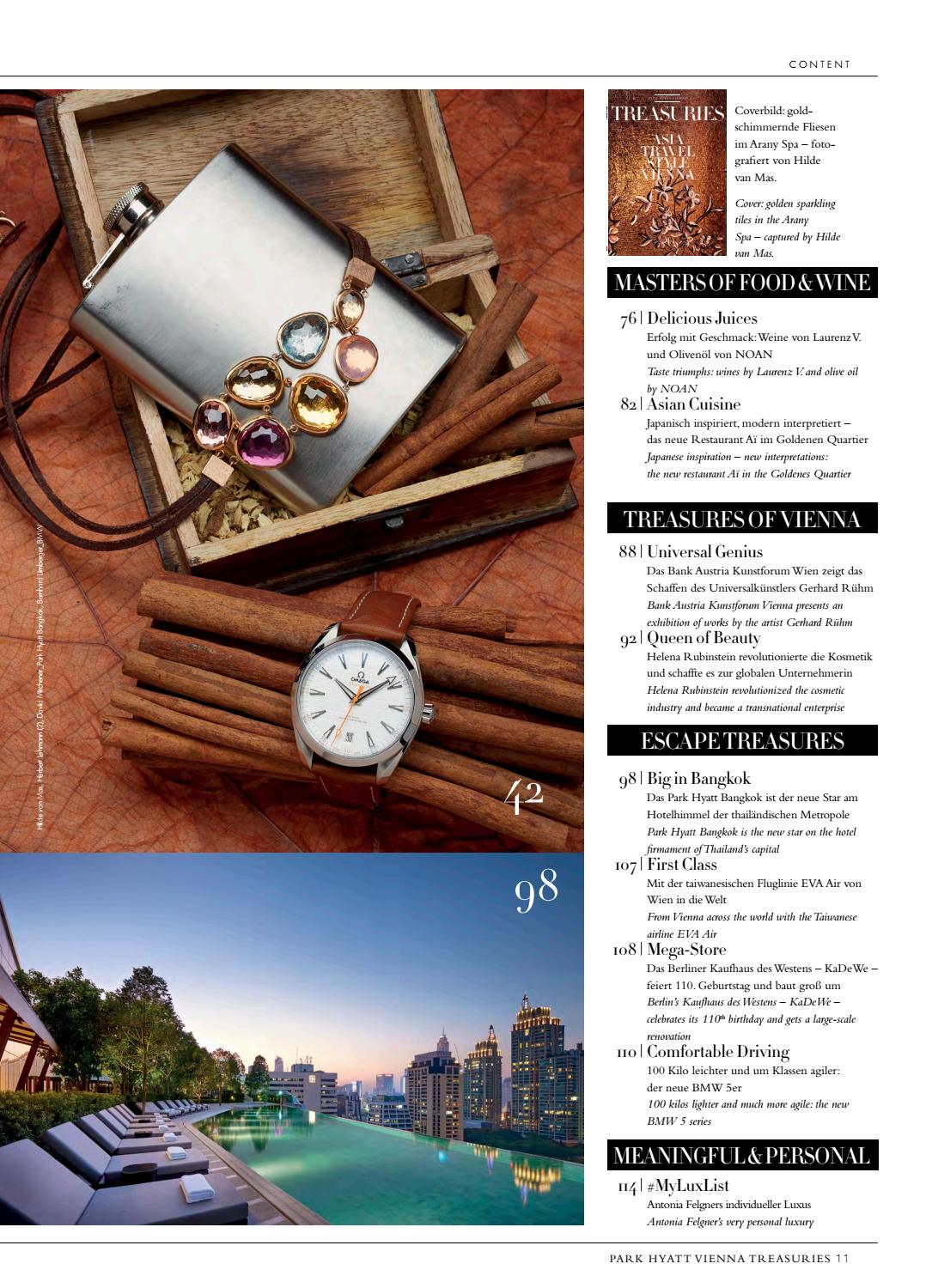 Park Hyatt Vienna Treasuries 02 2017 by Christian Lerner - issuu