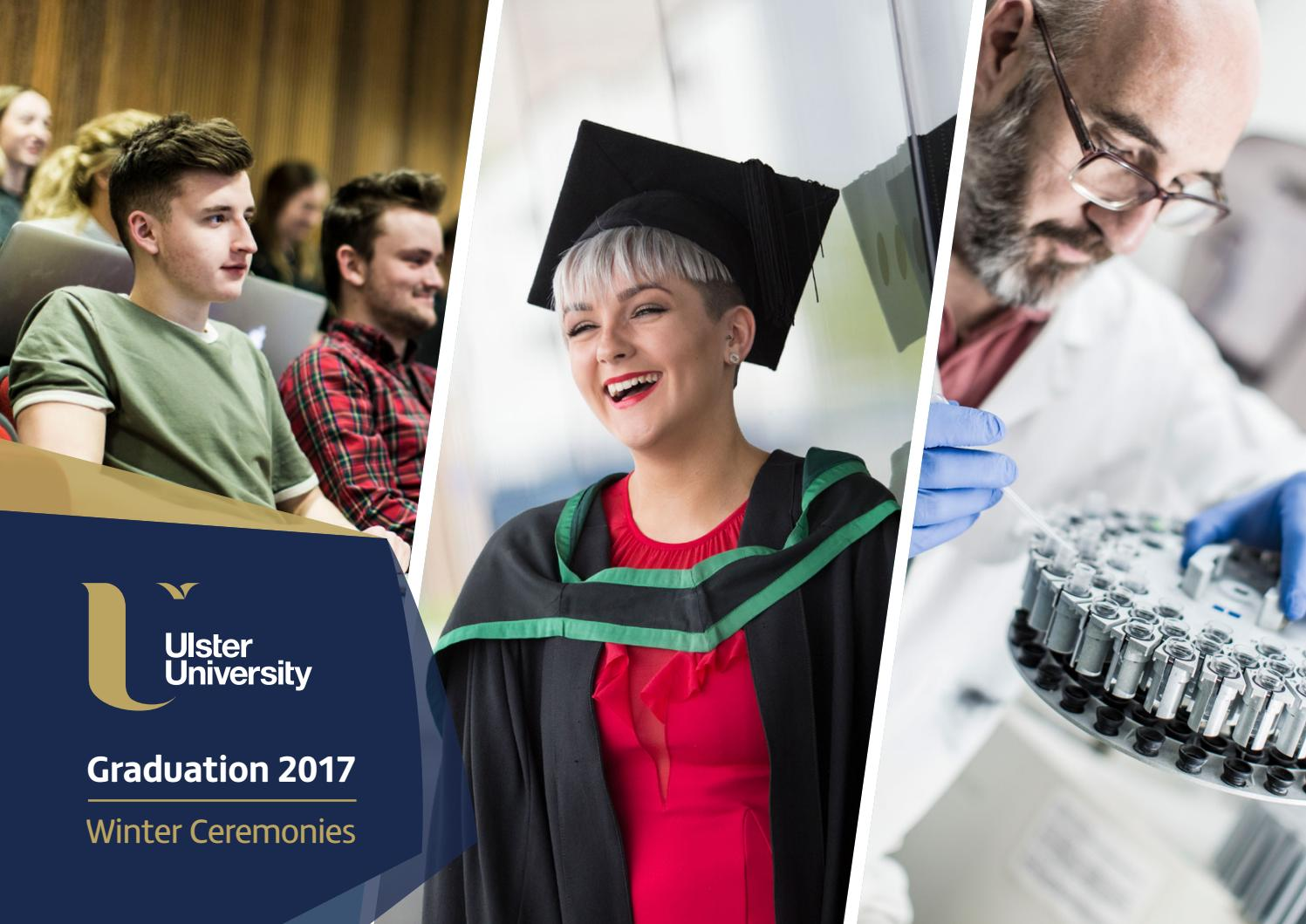 Ulster University Winter 2017 Graduation Booklet by Ulster