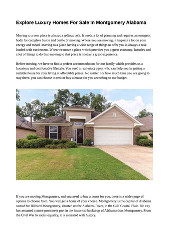 Discover Fully Furnished Homes For Sale In Montgomery Alabama By