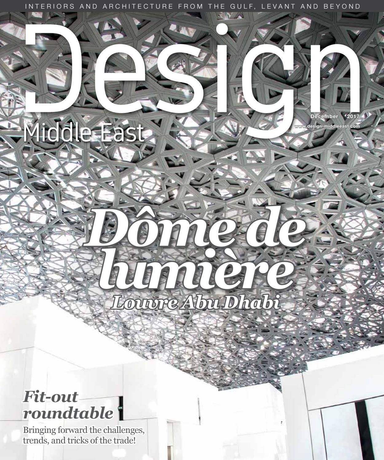 Design Middle East December 2017 by Design Middle East - issuu