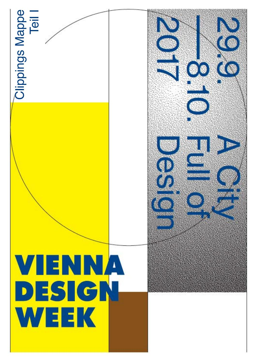 VIENNA DESIGN WEEK 2017 Clippings Teil 1 by Ana Berlin - issuu