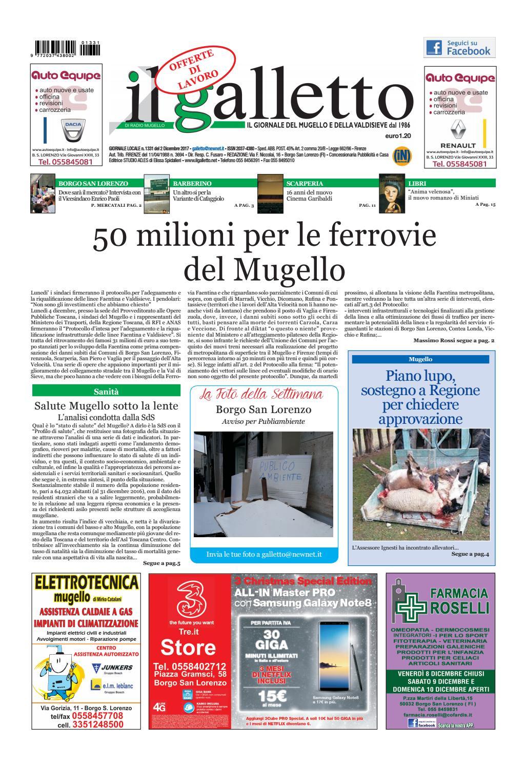 b4b175d617d Galletto 1331 del 2 dicembre by Il Galletto Giornale - issuu