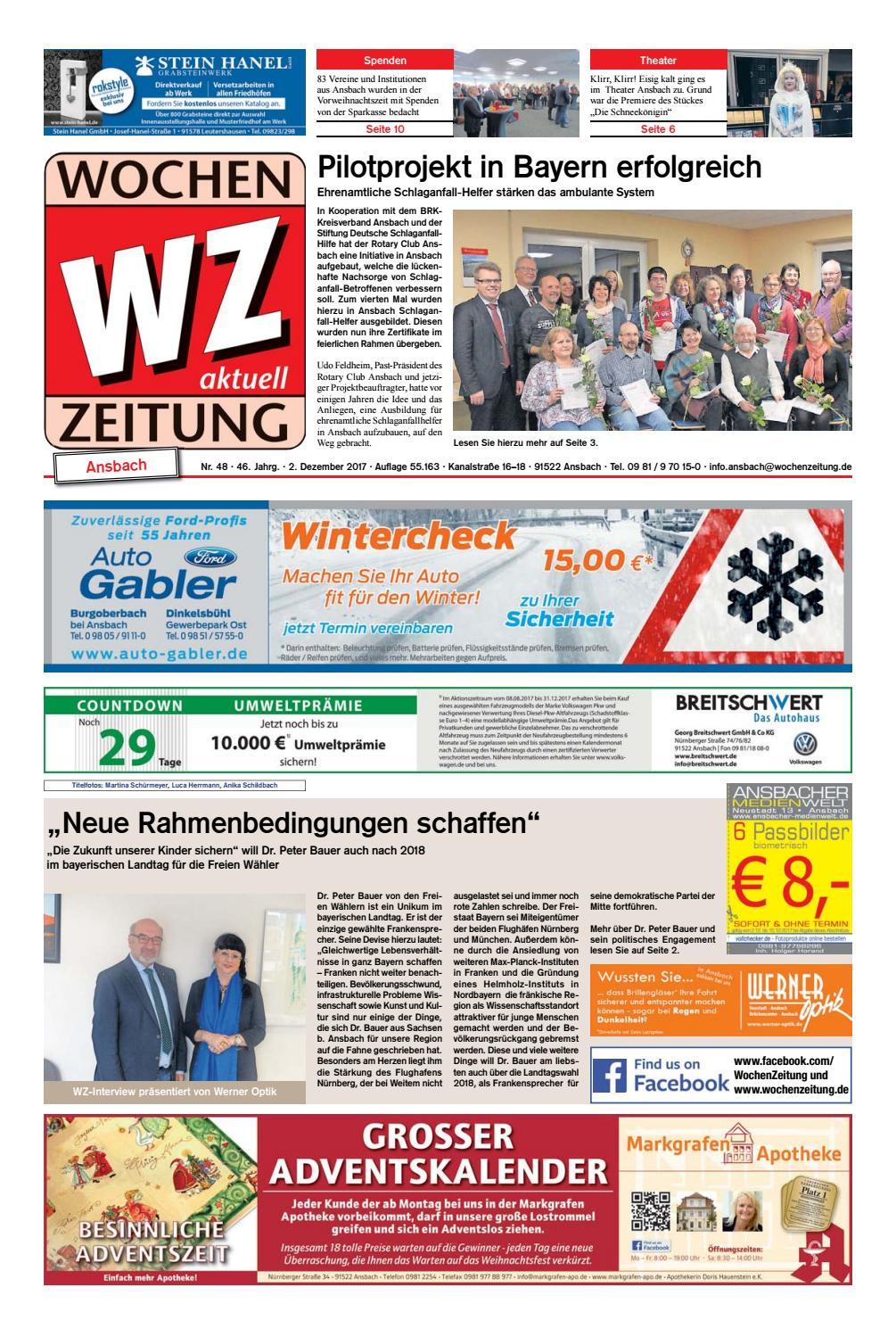 WochenZeitung Ansbach kw 48 by WochenZeitung / SonntagsZeitung - issuu