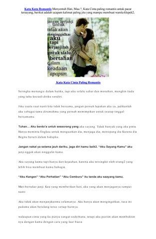 Kata Kata Super Romantis Paling Menyentuh Hati By Bangkit