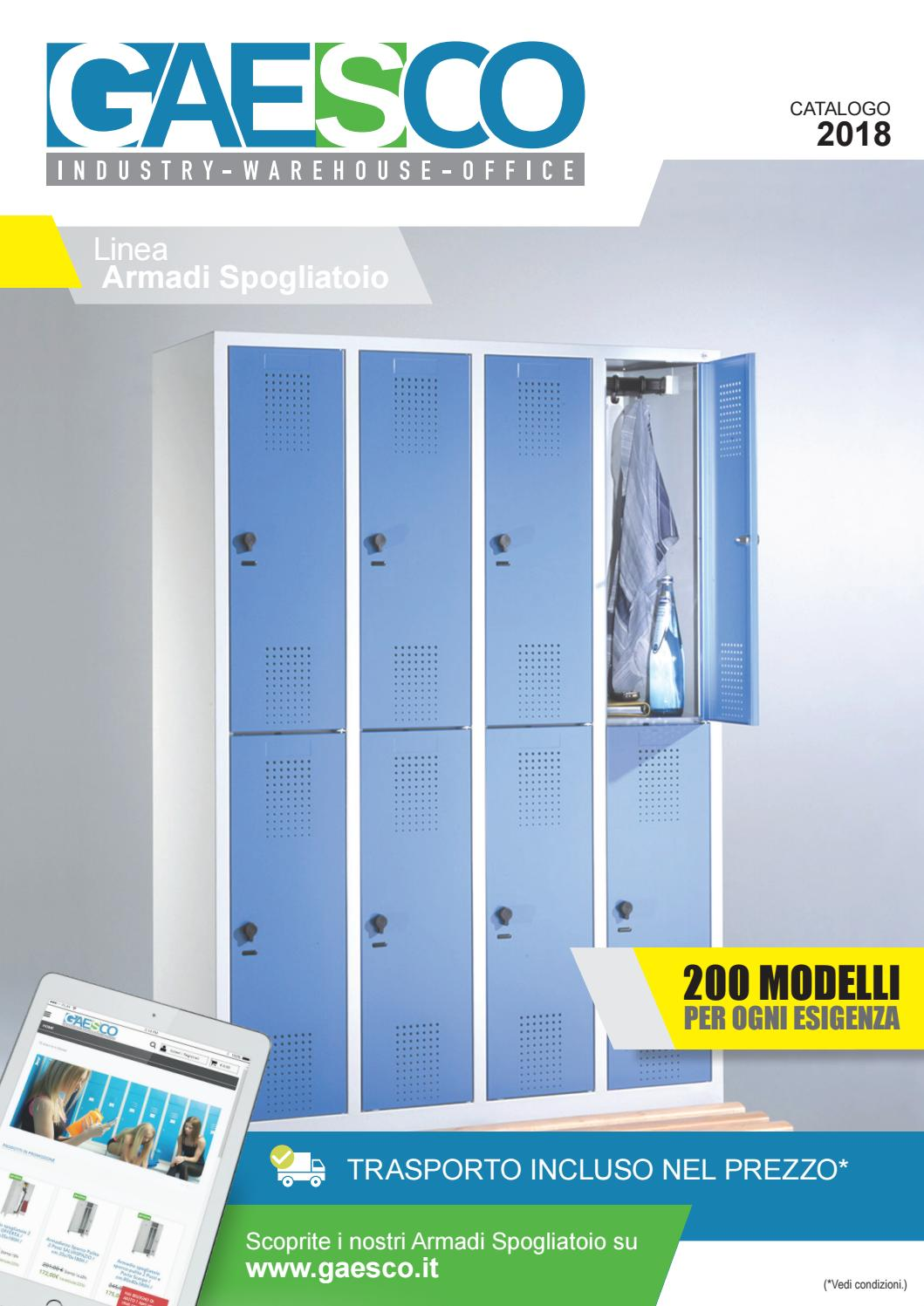 Gaesco Armadi spogliatoio by Gaesco Srl issuu