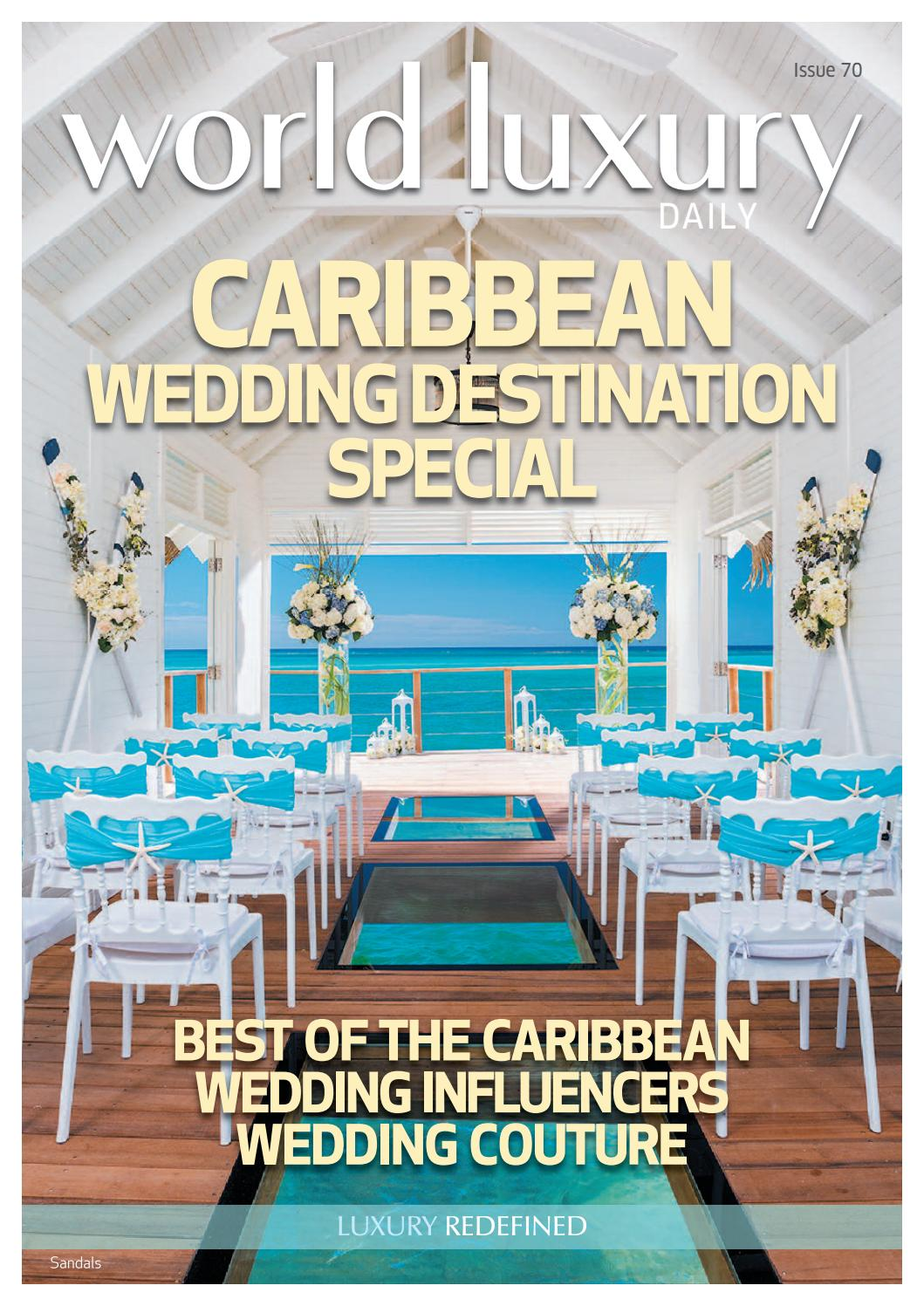 World Luxury Issue 70 Caribbean Wedding Destination Special By  # Le Corner Meuble Tv Blanc Led Hi Fi Integre