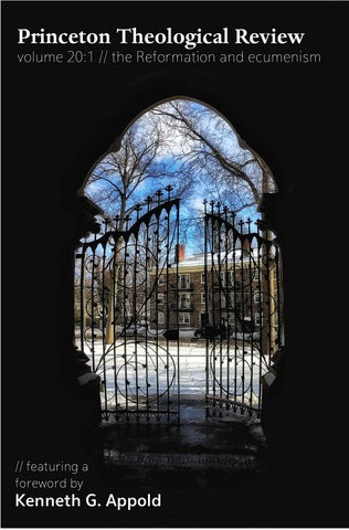 Princeton Theological Review Spring 2017 By Princeton Theological