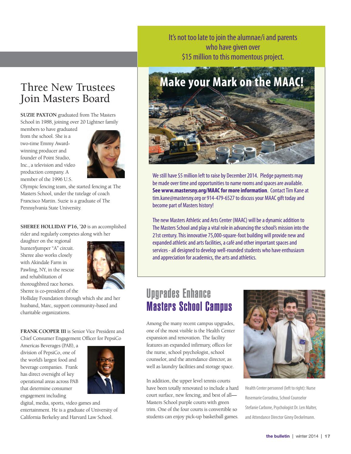 Masters Bulletin Winter14 By The Masters School Issuu