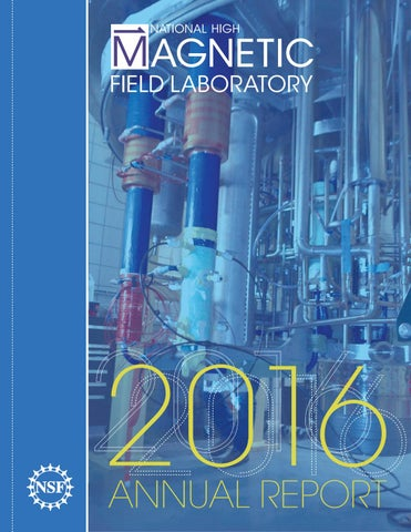 2016 Annual Report for the National High Magnetic Field Laboratory
