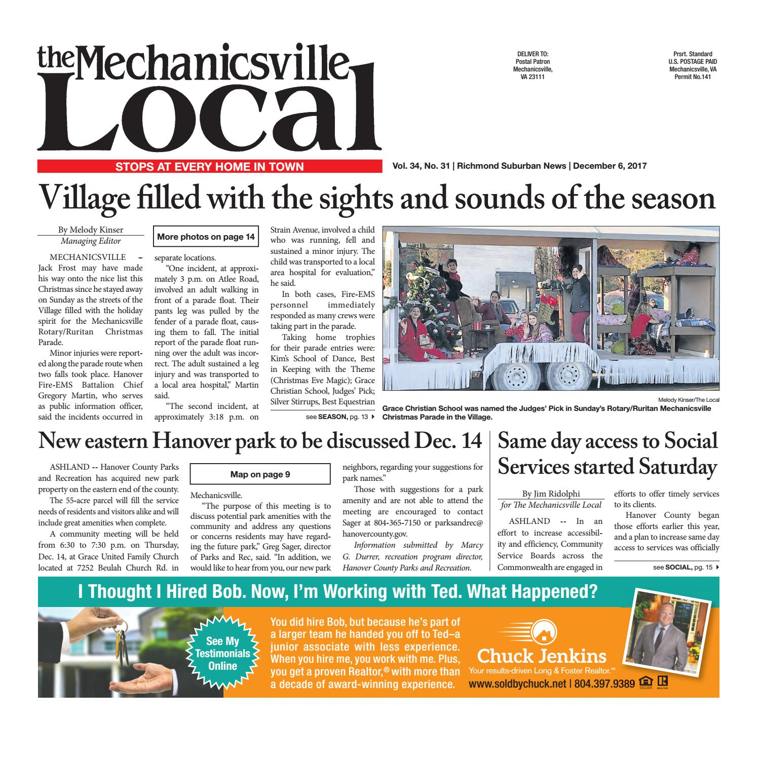 12/06/17 by The Mechanicsville Local - issuu