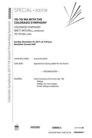 Program - Yo-Yo Ma with the Colorado Symphony by Colorado Symphony