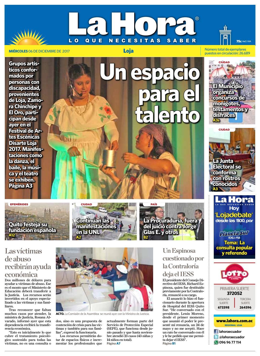 d9b613268a1d0 Diario La Hora Loja 06 de Diciembre 2017 by Diario La Hora Ecuador - issuu