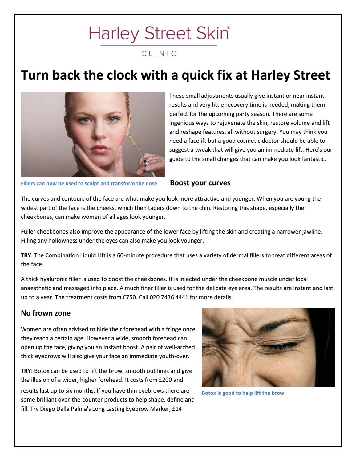 Turn back the clock with a quick fix at harley street skin