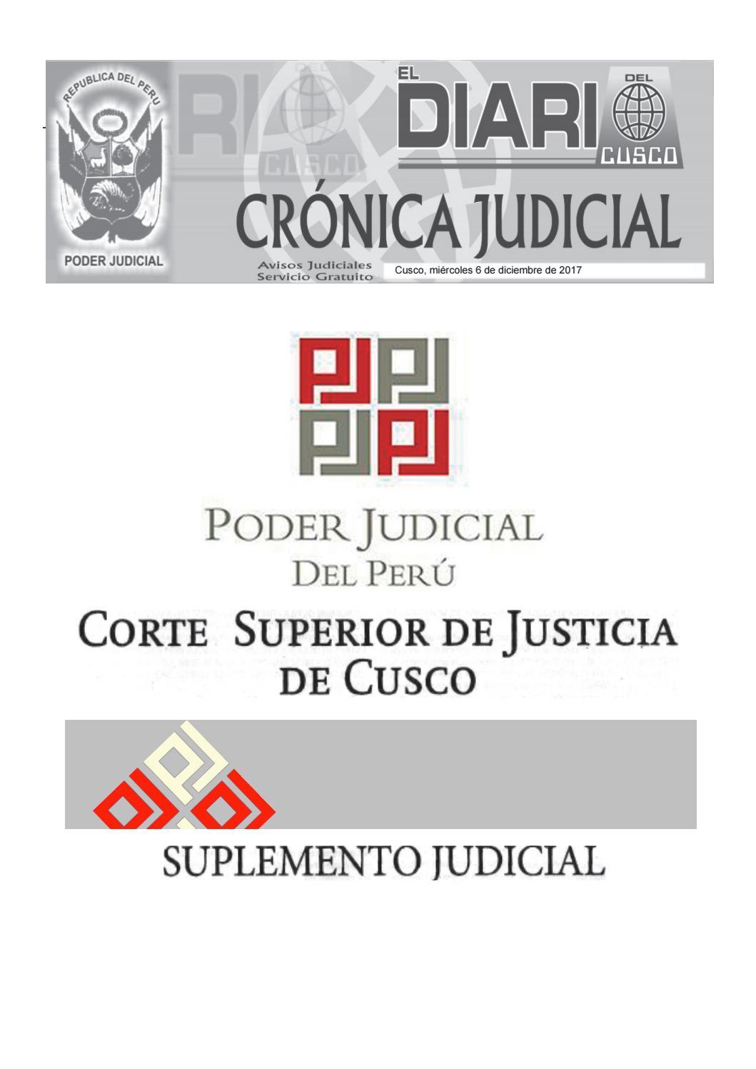 Judiciales 6 9 17 By El Diario Del Cusco Issuu # Muebles Huarcaya
