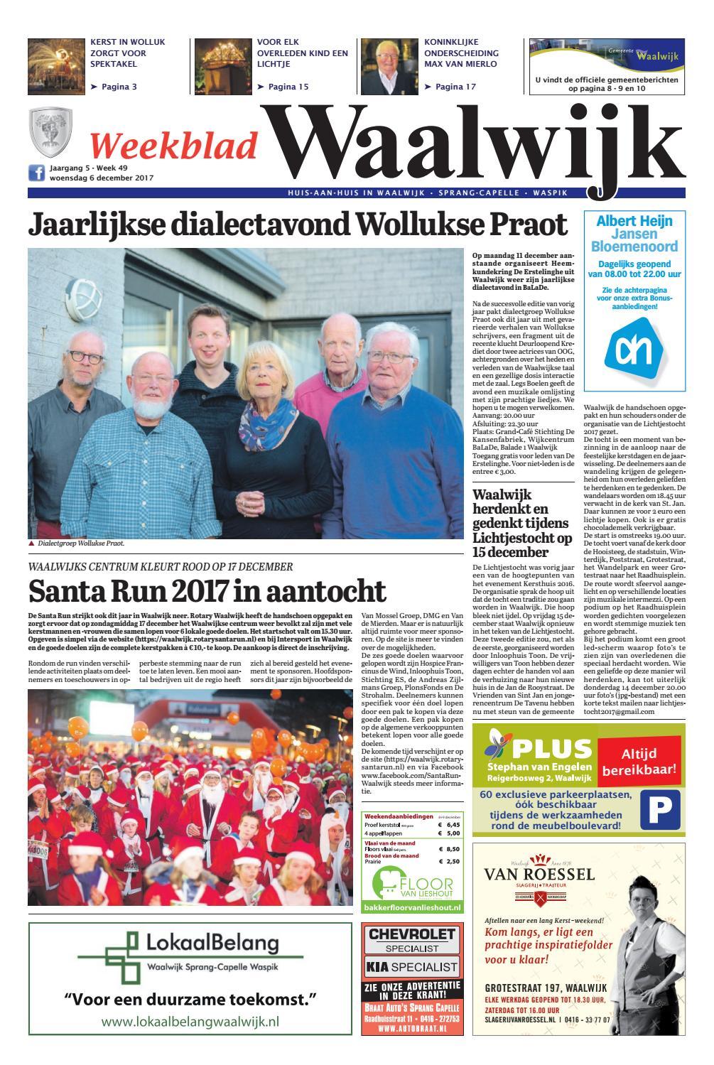 762010f285c Weekblad Waalwijk 06-12-2017 by Uitgeverij Em de Jong - issuu
