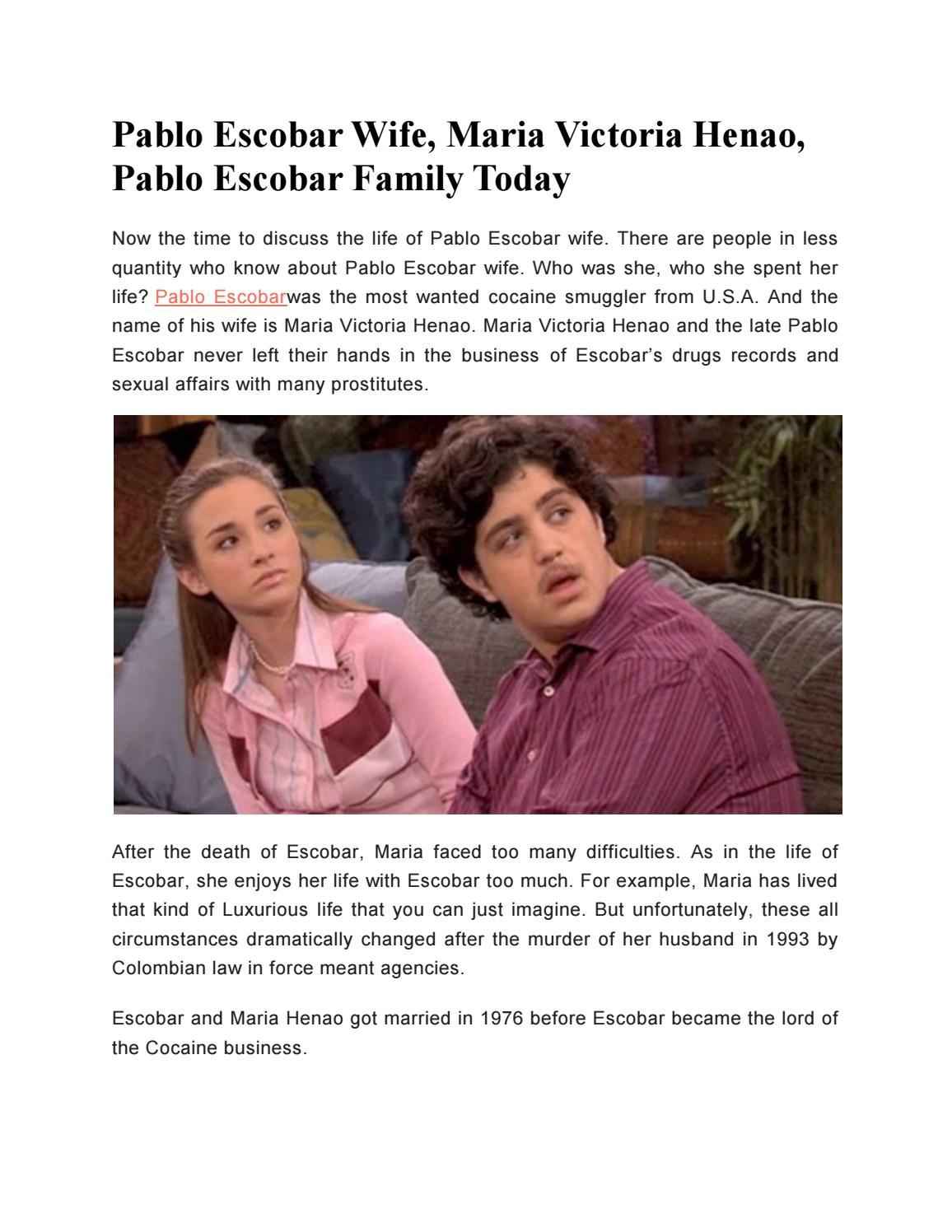 Pablo Escobar Maria Victoria Henao >> Pablo Escobar Wife, Maria Victoria Henao, Pablo Escobar Family Today by WickedFacts - Issuu