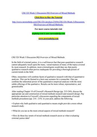 qualitative research in criminal justice