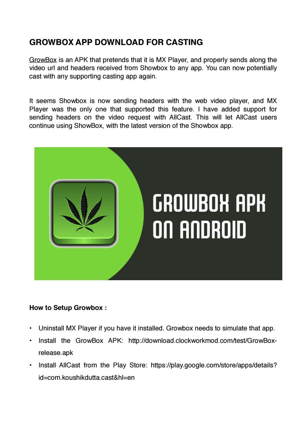 Growbox apk download for showbox by theaqueen9789 - issuu