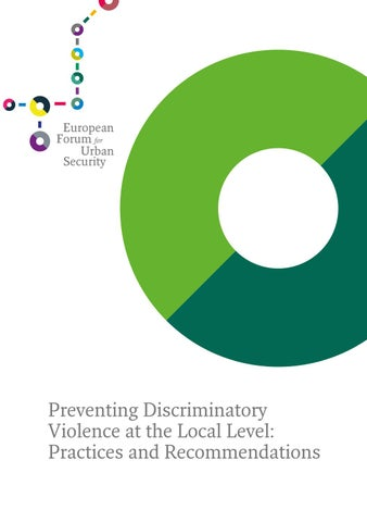 Preventing Discriminatory Violence At The Local Level