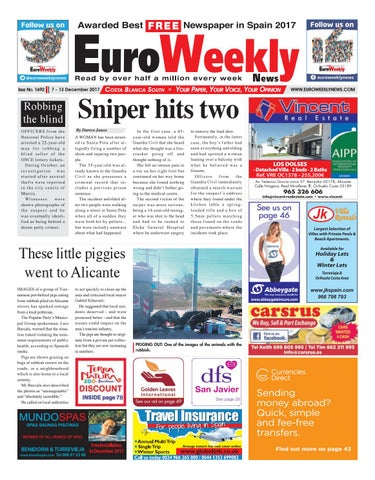 e5a287d67ecfc Euro Weekly News - Costa Blanca South 7 – 13 December 2017 Issue 1692. FREE  Newspaper ...