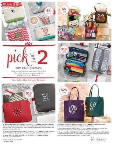 ea1139ae6a Thirty-One Gifts December 2017 Monthly Specials Flier