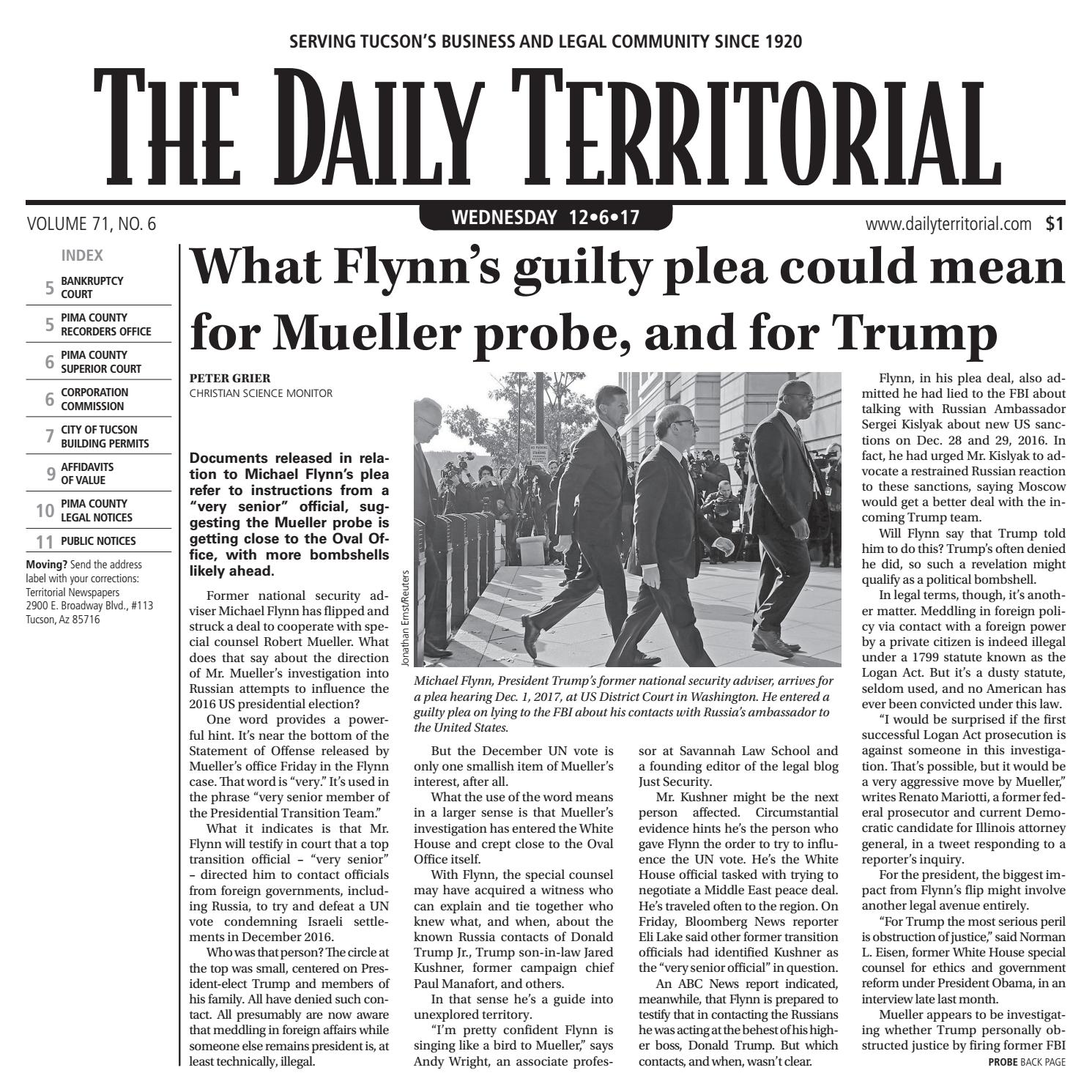 12/06/2017 The Daily Territorial