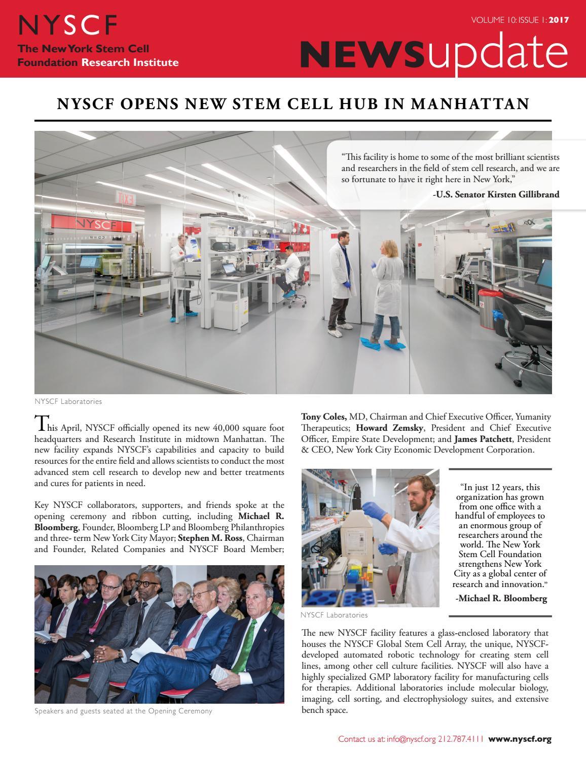 NYSCF News Update | Vol 10, Issue 1