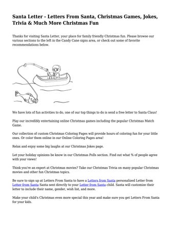 Santa letter letters from santa christmas games jokes trivia santa letter letters from santa christmas games jokes trivia much more christmas fun thanks for visiting santa letter your place for family friendly spiritdancerdesigns Image collections