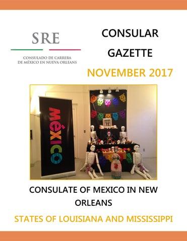 Consular Gazette November 2017, Consulate of Mexico in New Orleans