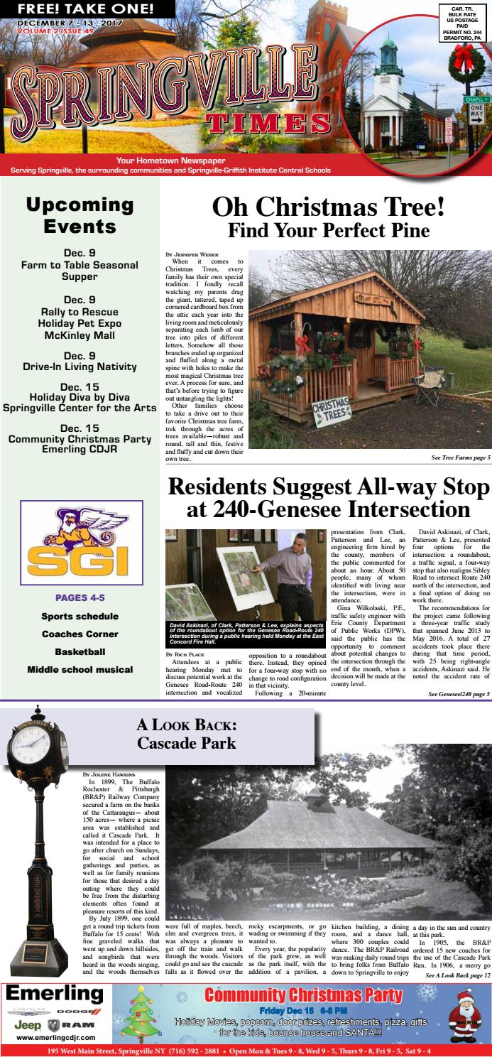12-7-17 Springville Times by Ellicottville Times - issuu