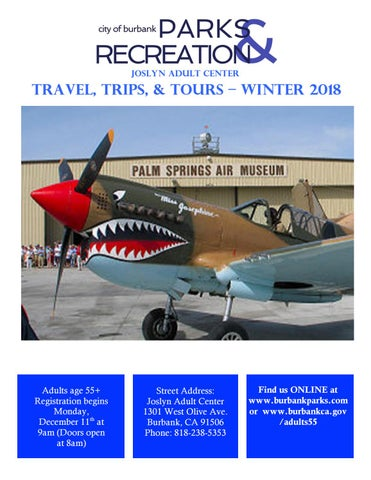 Winter Trips 2018 By Burbank Parks And Recreation Issuu