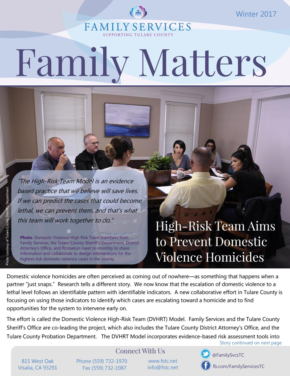 Family Matters Winter 2017 By Family Services Of Tulare County Issuu