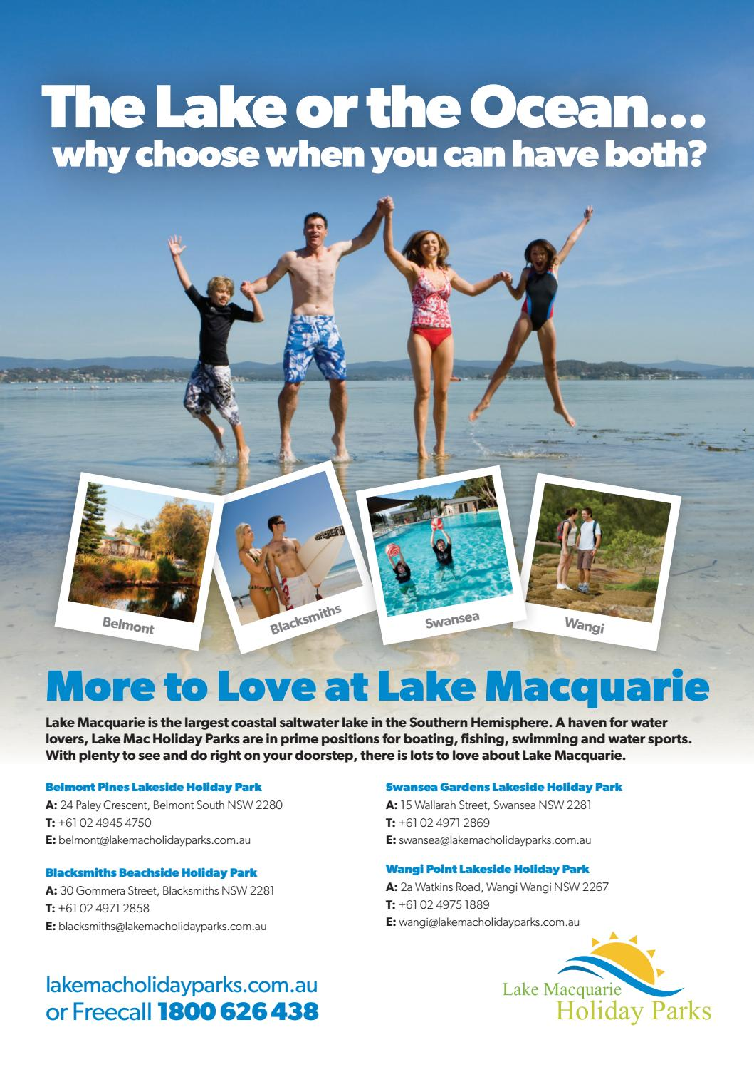 Belmont Pines Lakeside Caravan Park lake mac holiday parks brochurelake mac holiday parks