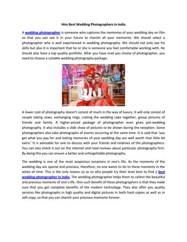 Hire best wedding photographers in india by ACF Production