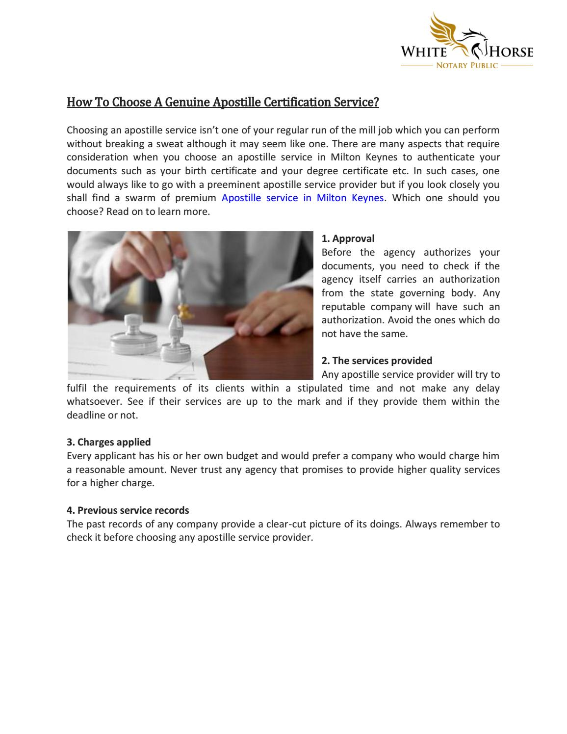 How To Choose A Genuine Apostille Certification Service By Lewis