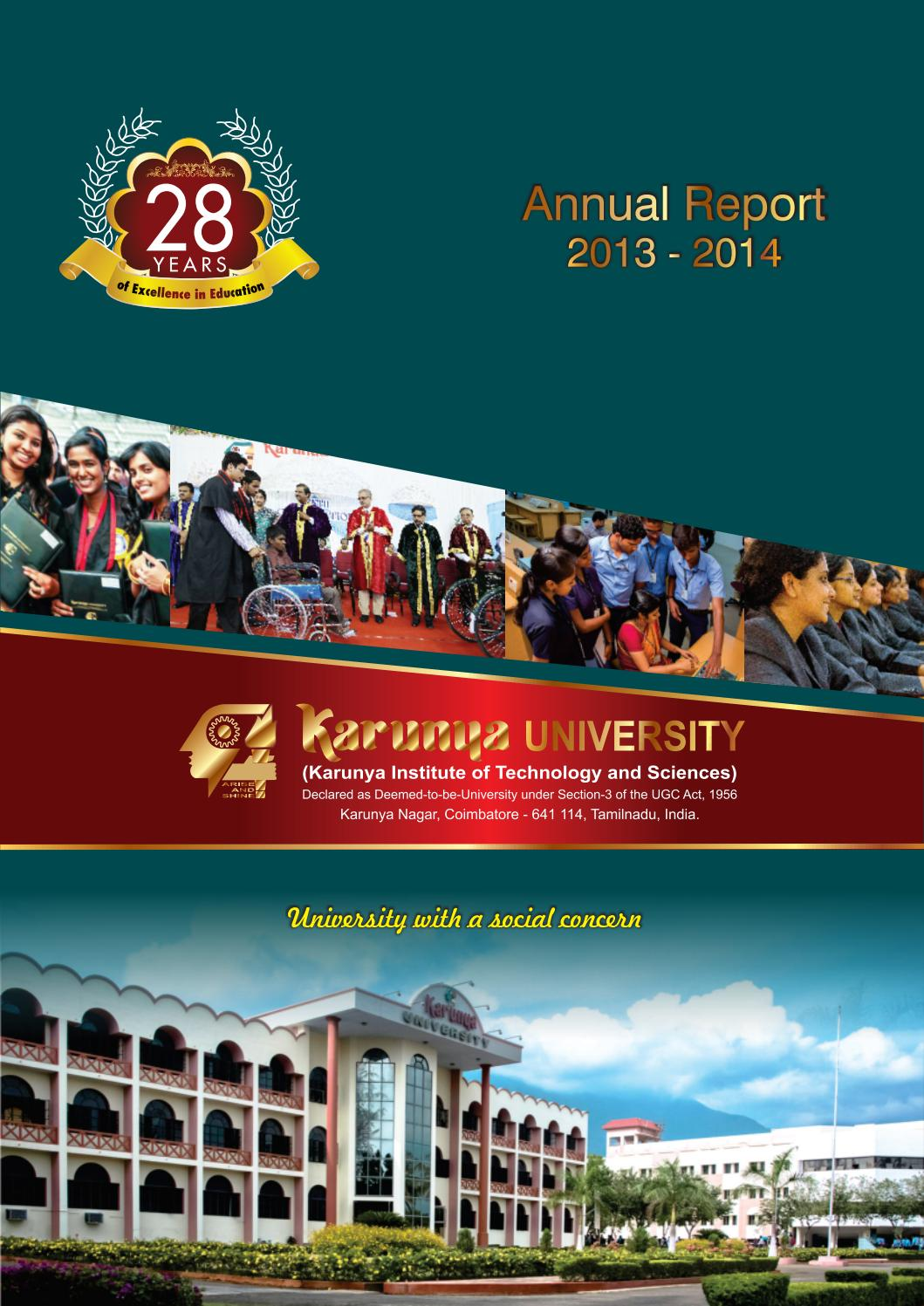 Annual Report 2013 14 By Karunya Institute Of Technology And Tricky 12v Battery Charger Circuit D Mohankumar Chargers Sciences Issuu