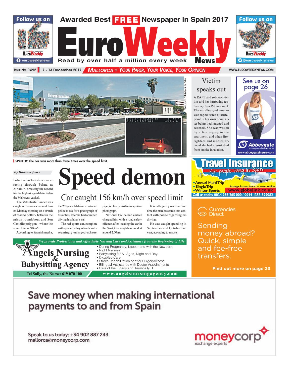 3b072d525 Euro Weekly News - Mallorca 7 – 13 December 2017 Issue 1692 by Euro Weekly  News Media S.A. - issuu