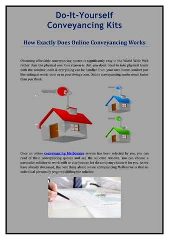 How exactly does online conveyancing works by diyconveyanc issuu do it yourself conveyancing kits how exactly does online conveyancing works obtaining affordable conveyancing quotes is significantly easy in the world wide solutioingenieria Image collections