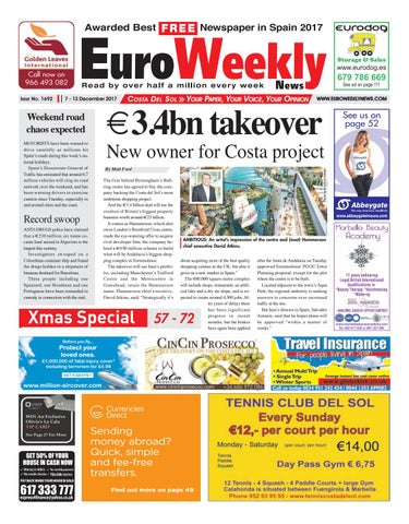 03ad7298213 Euro Weekly News - Costa del Sol 7 – 13 December 2017 Issue 1692 by ...