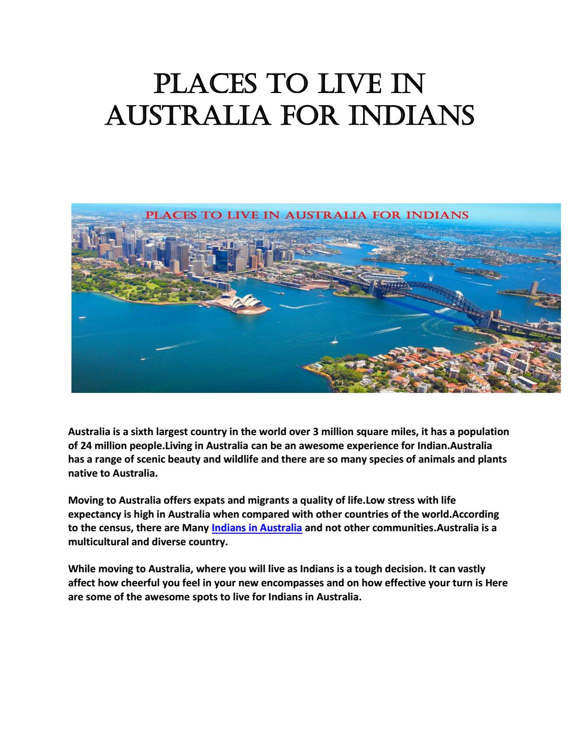 Places to live in australia for indians by theindiansun - issuu