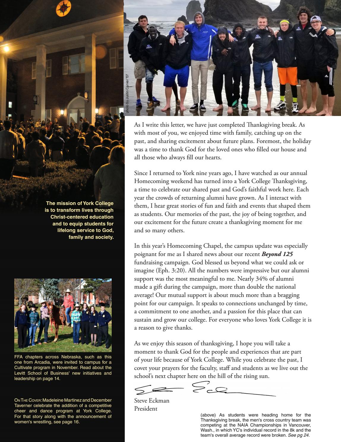 York College Heritage Magazine by York College - issuu