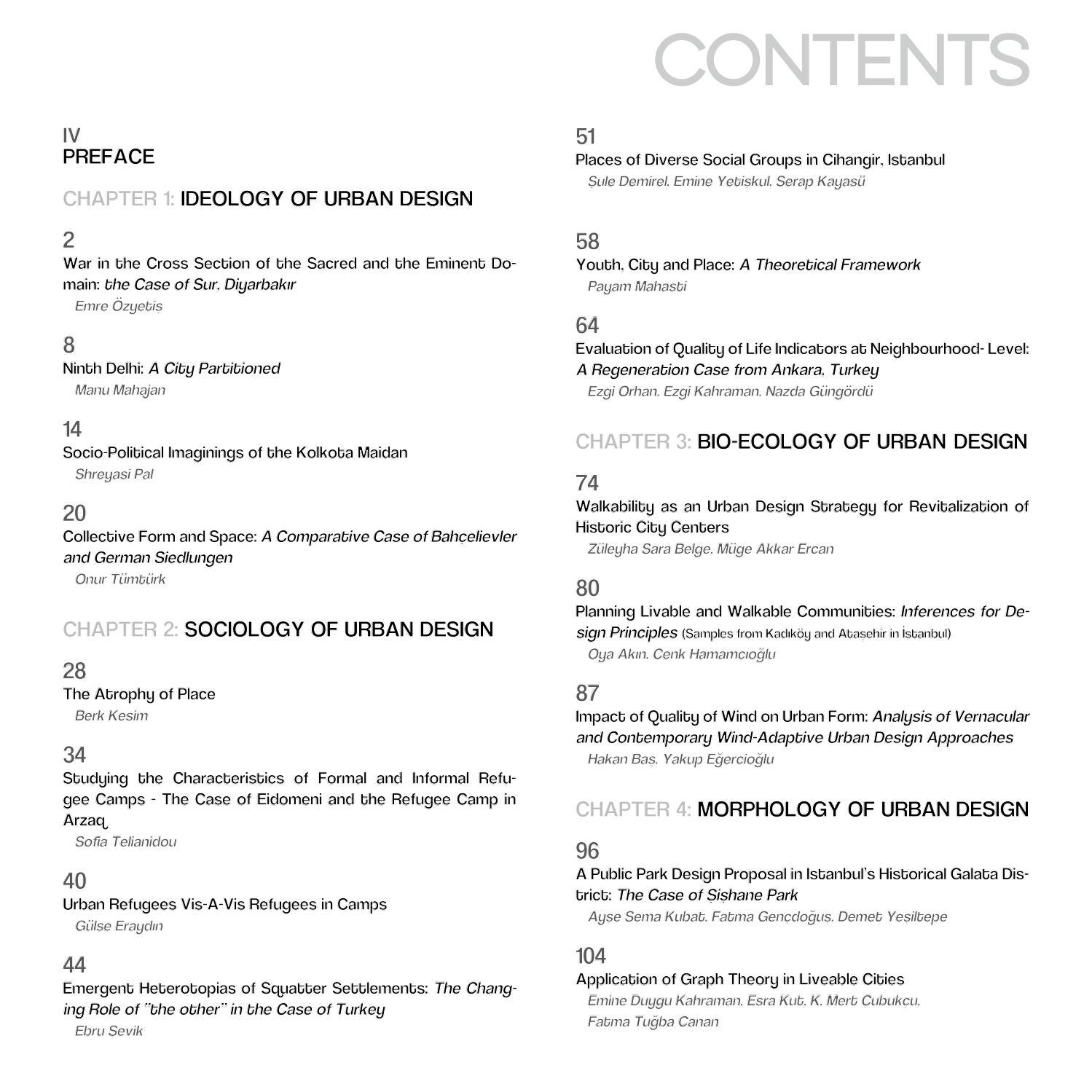 DESIGNING URBAN DESIGN - METUDSYMP2016 Proceedings by METU