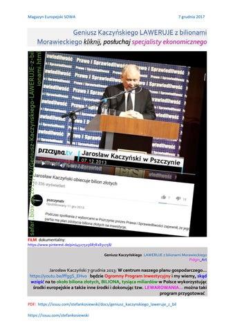 Geniusz kaczynskiego LAWERUJE z bilionami morawieckiego 20171207 posłuchaj specjalisty ekonomicznego