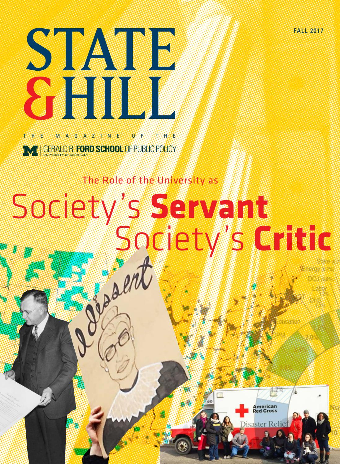 2017 Fall State & Hill: Society's Servant, Society's Critic by