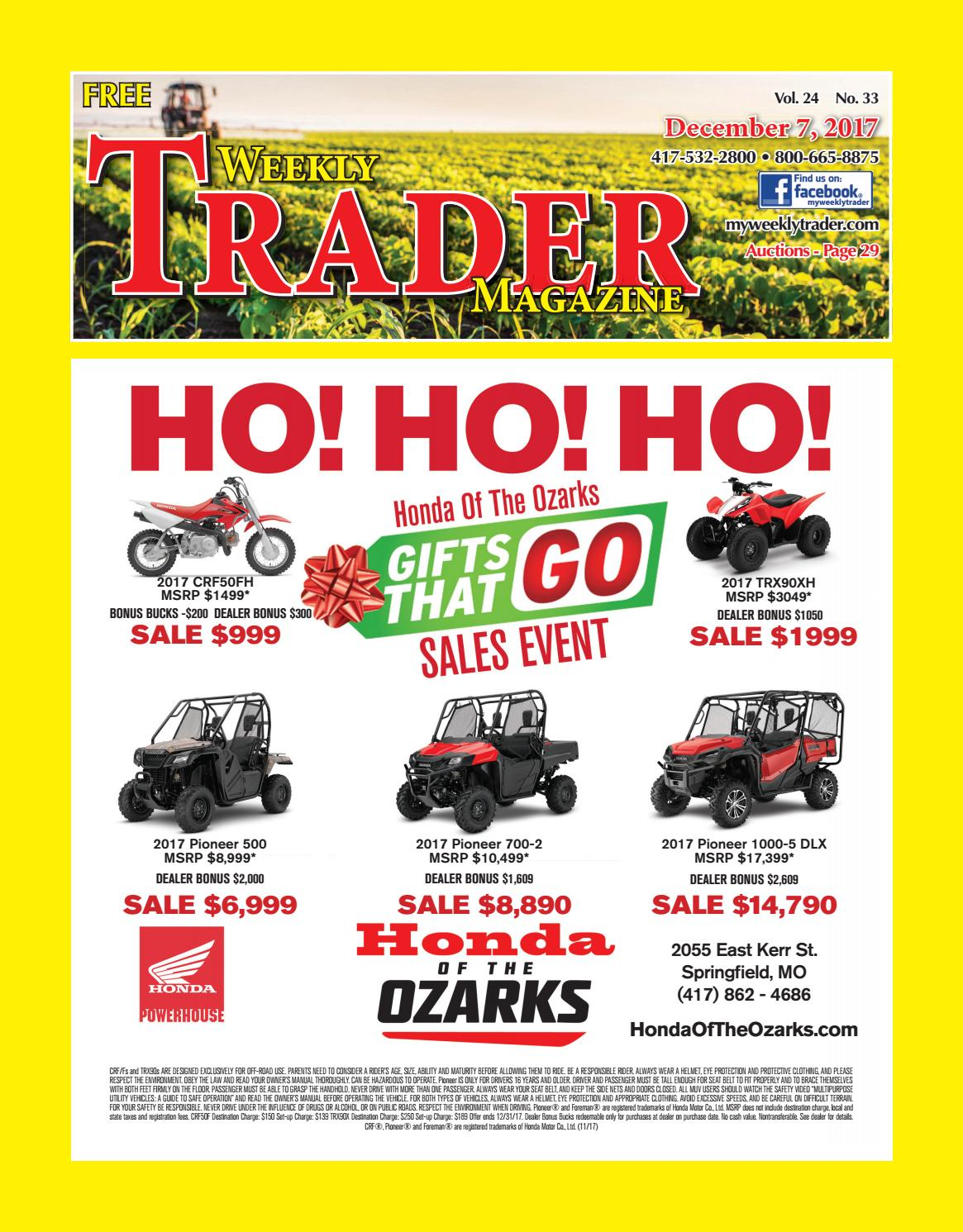 Weekly Trader December 7 2017 By Issuu Wiring Diagram For 3 Speed Fan Motor Fx2 75x