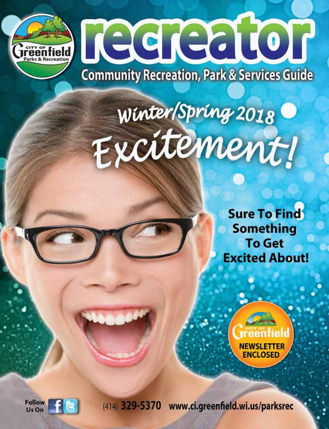 02e24a4984 Winter Spring 2018 Recreator by City of Greenfield (Wisc.) Parks    Recreation Department - issuu