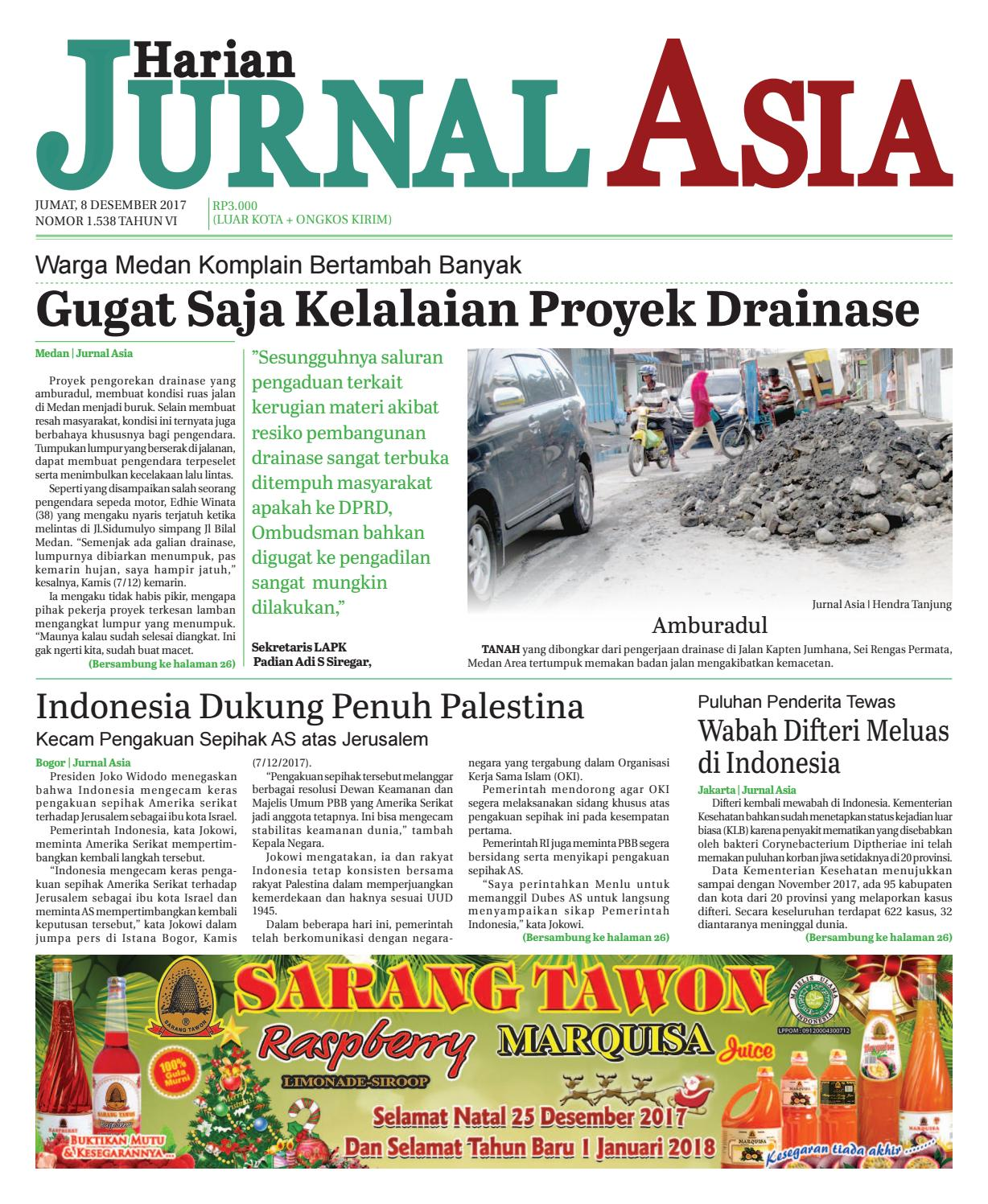 Harian Jurnal Asia Edisi Jumat 08 Desember 2017 By Harian Jurnal